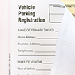 NCR 2-Part Vehicle Parking Registration Form