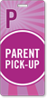 Parent Pick-Up Pass Backpack Tag for Schools