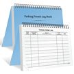 Small Parking Permit Log Book