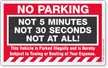 No Parking Sticker