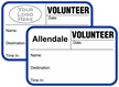 Custom Volunteer Tab-Expiring Badge with Logo