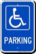 Parking (handicapped symbol) ADA Sign