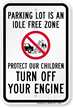 Protect Our Children Turn Off Engine Sign