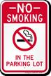No Smoking In Parking Lot Sign