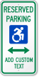 Reserved Parking Sign With Updated Accessible Symbol