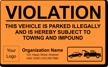 Custom Design Your Own Vehicle Violation Sticker