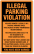 Custom Illegal Parking Violation Label, Add Your Address