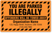Custom You Are Parked Illegally Towed Away Label