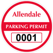 Parking Labels - Design CR4
