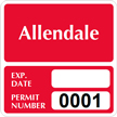 Parking Labels - Design SQ10