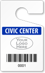 Plastic ToughTags™ for Bar-Coded Parking Permits