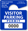 Mini Numbered Visitor Parking Permit Hang Tag