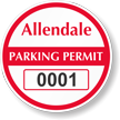 Parking Labels - Design CR9