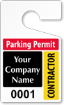 Plastic ToughTags™ for Contractor Parking Permits