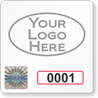 Tamper-Evident Hologram Permit Decals with Logo and Numbering