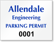 Personalized ForgeGuard Pre-printed Tamper Evident/Voiding Parking Permit Insert