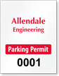 ForgeGuard Custom Tamper Evident Vertical Parking Permit Insert