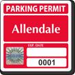 Custom Tamper-Evident Hologram Permit Parking Decals