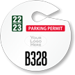 Custom Circle Parking Permit Hang Tag with Logo