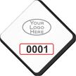 Custom Diamond Windshield Parking Decal With Logo