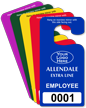 Custom Employee Jumbo Parking Permit Hang Tag