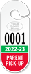 Custom Parent Pick-up Racetrack Permit Hanging Tag