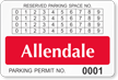 Custom Monthly Reserved Parking Permit Decal