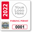 Create Own Tamper-Evident Hologram Permit Parking Decals