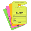 DELIVERY Fluorescent Parking Pass, Customizable Address