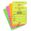 GUEST Fluorescent Parking Pass, Customizable Address