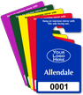 Custom Parking Permit Hang Tag with Logo