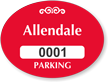Custom Parking Permit Mirror Decal