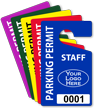 Custom Plastic Parking Permit Hang Tag