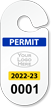 Create Racetrack Parking Permit Hang Tag with Logo