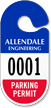 Custom Racetrack Parking Permit Hang Tag
