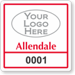 Custom Reserve Parking Permit Decal With Logo