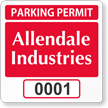 Custom Reserved Parking Permit Decal