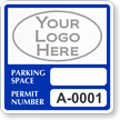Custom Reserved Parking Permit Decal With Logo