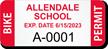 Custom School Bike Permit Decals