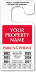 Custom Jumbo Temporary Parking Permit Hang Tag