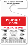 Custom Temporary Parking Permit Hang Tag