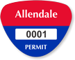 Custom Tri-Oval Parking Permit Bumper Sticker