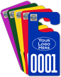 Customizable Jumbo Parking Permit Hang Tag