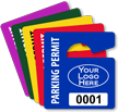 Customizable Logo Parking Permit Mini Hang Tag