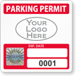 Custom Parking Permit Decals with Tamper-Evident Hologram SecuraPass