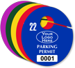 Customizable Oval Parking Permit Hang Tag