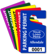 Customizable Parking Permit Hang Tag With Logo
