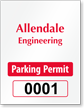 Design ForgeGuard Vertical Parking Permit Void Security Insert