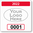Customizable Reserved Parking Permit Decal With Logo