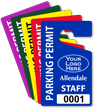 Customizable Staff Parking Permit Hang Tag